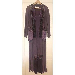 SPENCER ALEXIS Purple 2 Piece Dress Set Sz 10